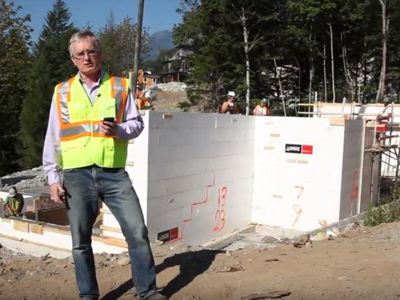 Watch Bob Deeks describe the benefits of the Logix ICF system and the Fortruss suspended slab. 