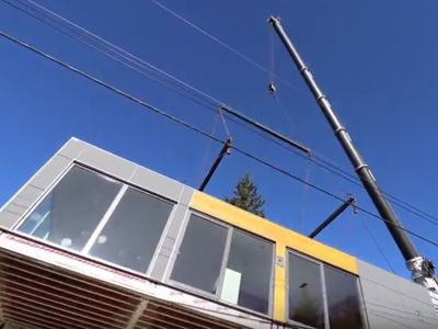 Watch our first modular home in partnership with Horizon North and Karoleena go up in minutes!