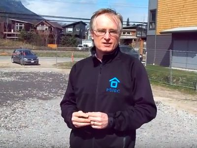 Bob describes the site and preparation for the new multi-family townhouse coming soon to Squamish.
