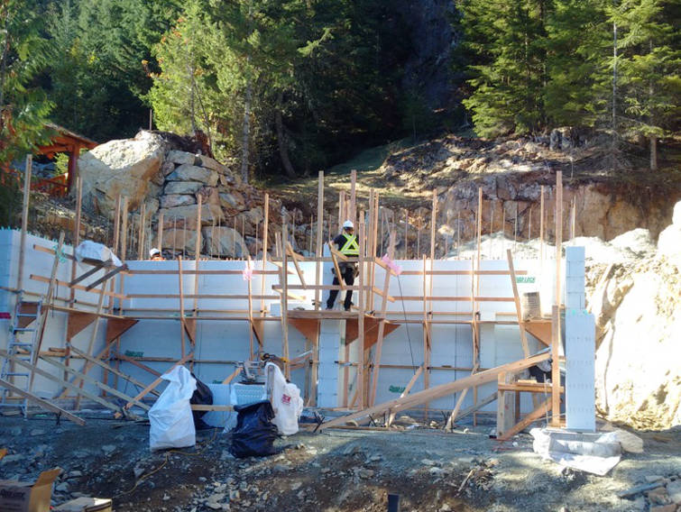 Building with insulated concrete forms for Icf residential construction
