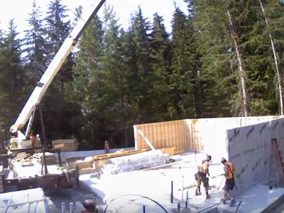 Our Panelized Home in Whistler went up in just two days!