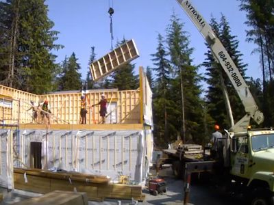 Our 1800 sq ft Panelized Home in Whistler went up in just two days!