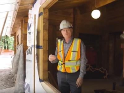 Watch as RDC teams up with BCIT and several industry partners to renovate several of Cheakamus Centre's aging wood cabins into high performance buildings!