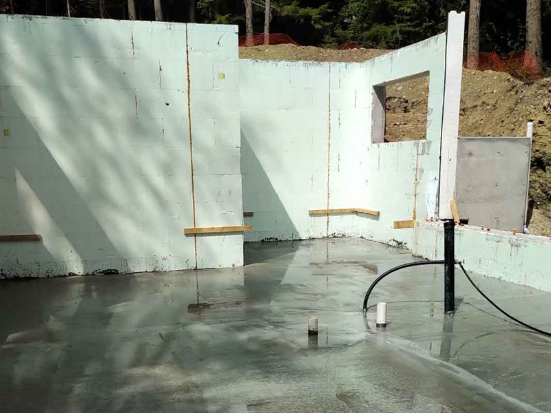 Net Zero House Thermal Slab