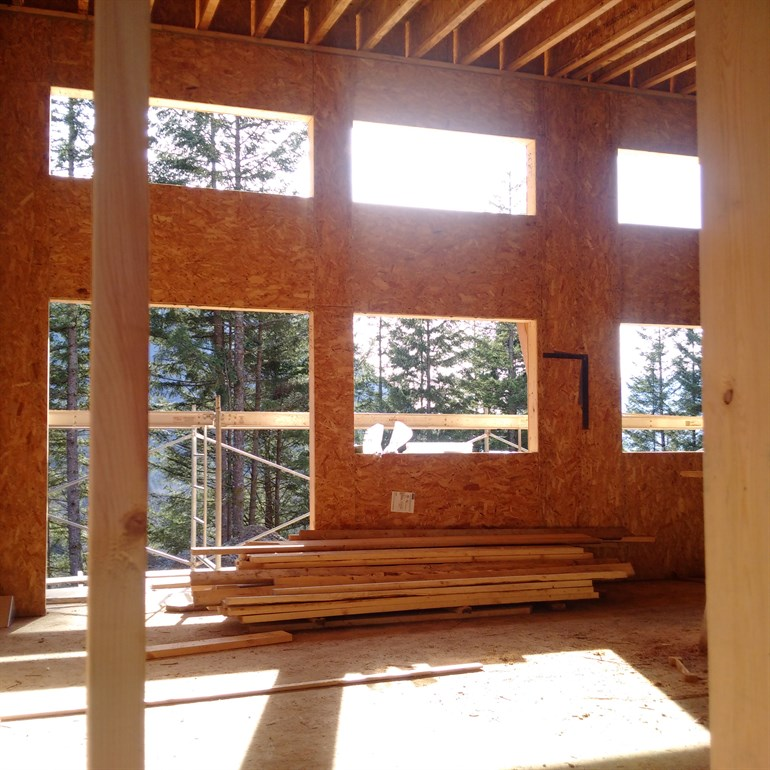 Crumpit Woods Squamish Home Construction Interior